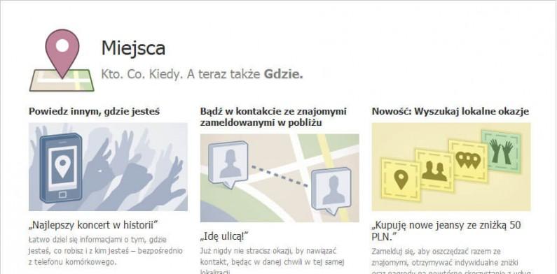 Możemy się już meldować. Facebook Places w Polsce