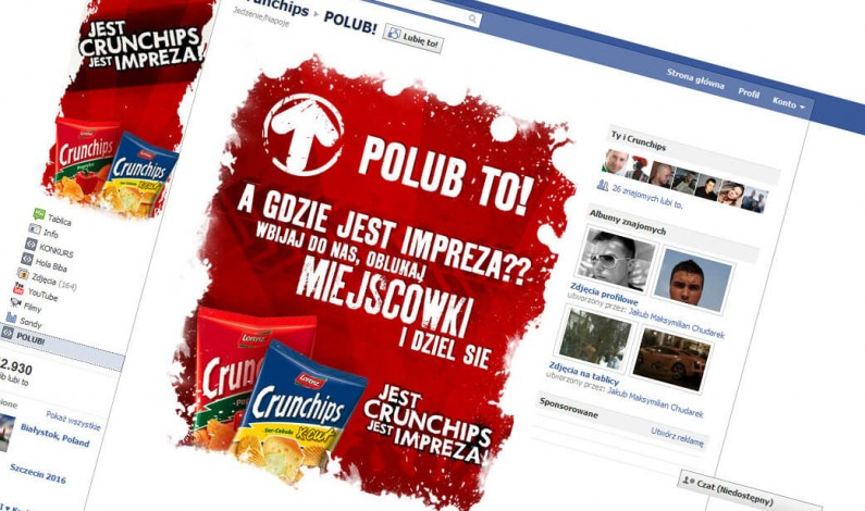 Crunchips imprezuje na Facebooku
