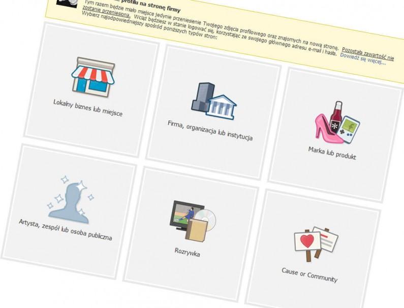 Zamień znajomych w fanów. Facebook umożliwia przekształcenie prywatnego profilu w fan page