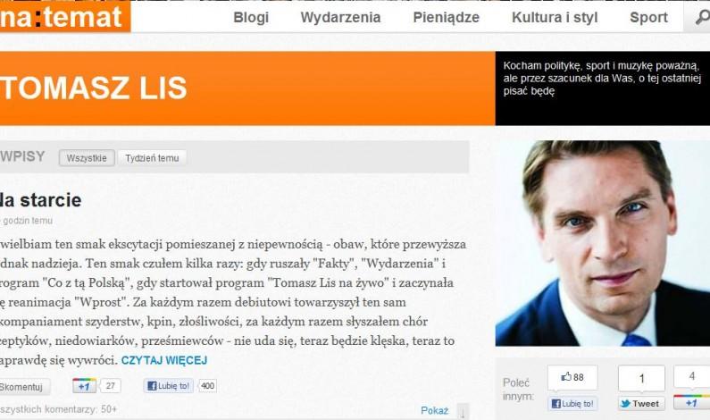 Ruszył serwis NaTemat.pl. Zostanie czarnym koniem na rynku informacji?