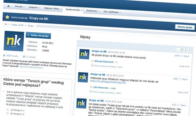 NK ułatwia użytkownikom zarządzanie grupami