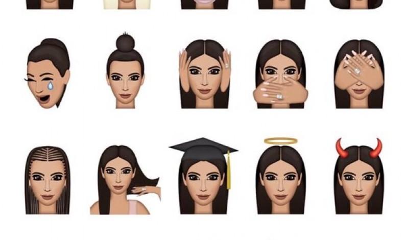Poznajcie Kimoji, nowe emotikony od Kim Kardashian