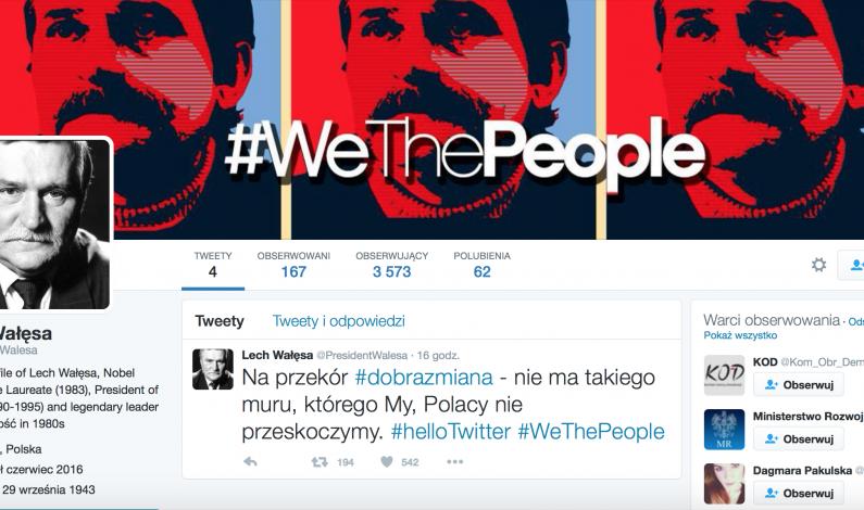 Lech Wałęsa znów mikrobloguje. Tym razem na Twitterze