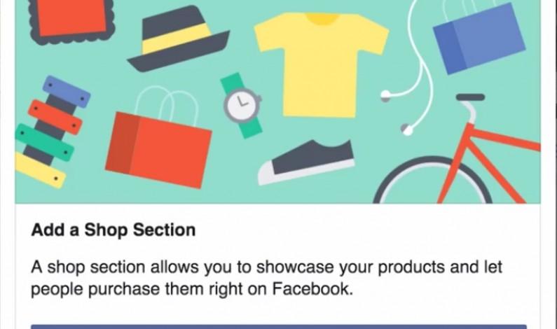 Facebook umożliwi bezpośrednią sprzedaż produktów. Sekcja Sklep w fazie testów