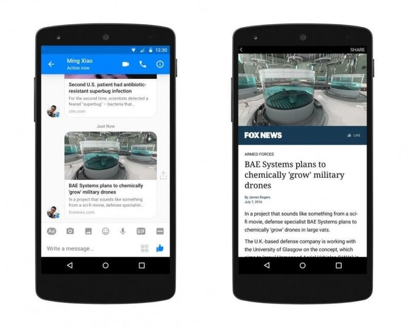 Facebook wprowadzi Instant Articles do Messengera