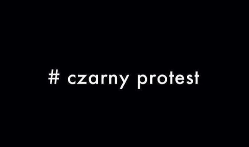 #Czarnyprotest odbił się szerokim echem w mediach społecznościowych
