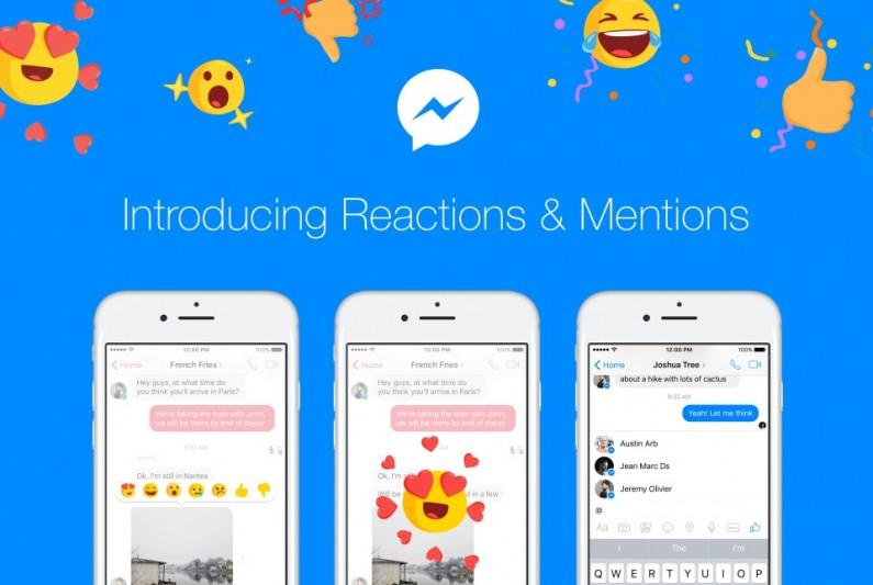 Reakcje na wiadomości i wzmianki o użytkownikach, czyli nowości w Messengerze