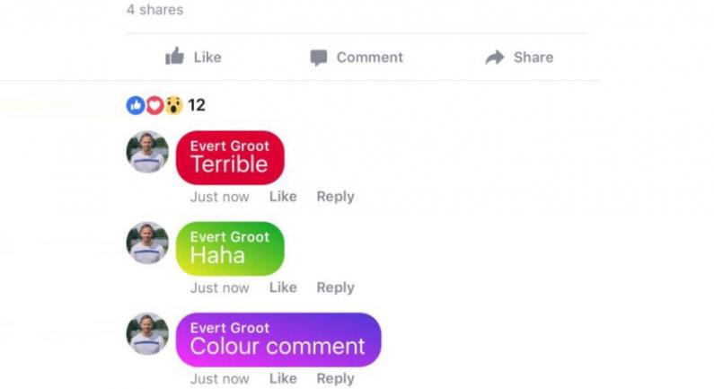 Facebook testuje możliwość dodawania kolorowych komentarzy