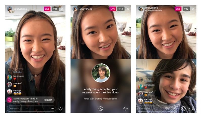 Nowość na Instagramie – możesz poprosić o dołączenie do live'a znajomego