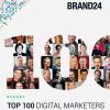 Top 100 digital marketerów 2019 roku według Brand24