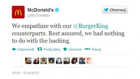 fot. Twitter.com/McDonalds