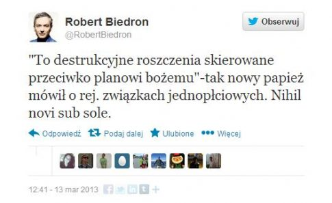 fot. Twitter.com/RobertBiedron