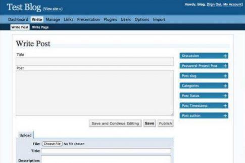 WordPress w wersji 2.0 (2005)