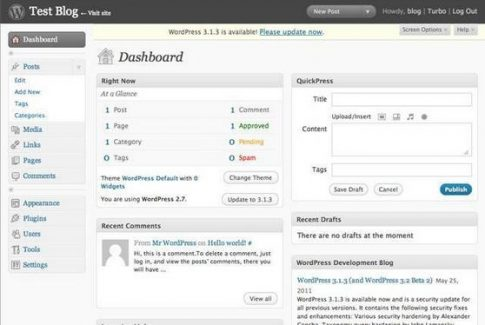 WordPress 2.7 (2008)