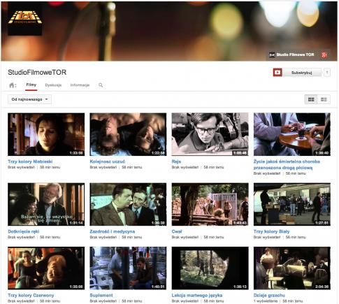 Kanał Studia Filmowego TOR / fot. YouTube