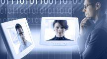 Businessman Videoconferencing - data protect