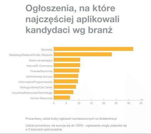 """fot. raport GoldenLine """"Rynek pracy w 2013 roku"""""""