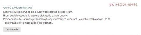 Jeden z komentarzy na stronie niezalezna.pl