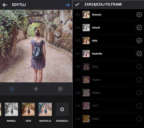 filtry instagram