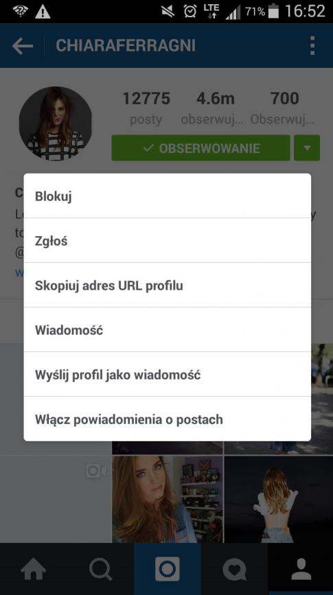 instagram powiadomienia