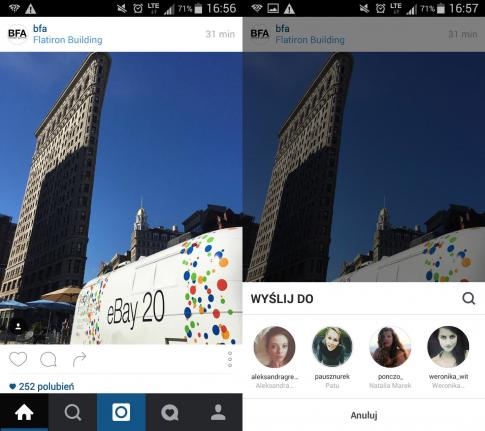 instagram wysyłanie zdjęć