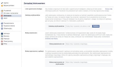Blokowanie / fot. Facebook