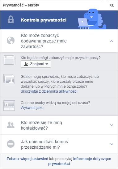 Prywatność - skróty / fot. Facebook