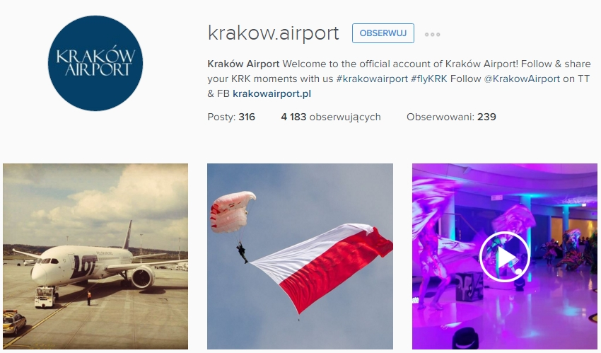 https://www.instagram.com/krakow.airport/