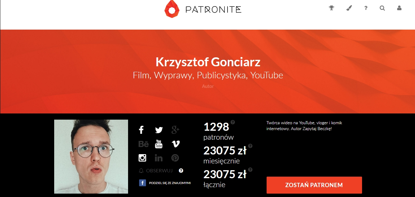 https://patronite.pl/kgonciarz