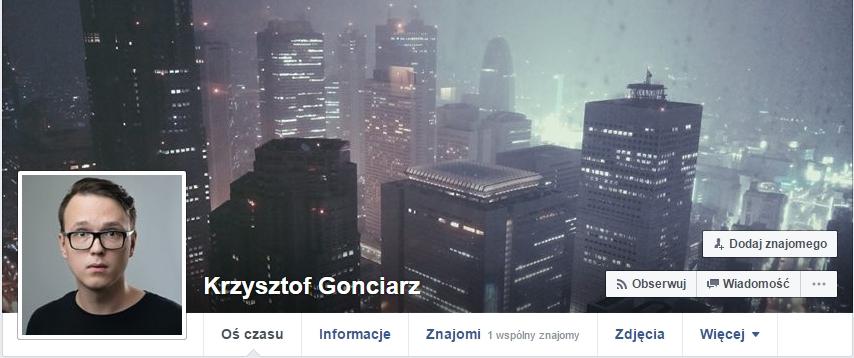 https://www.facebook.com/krzysztof.gonciarz