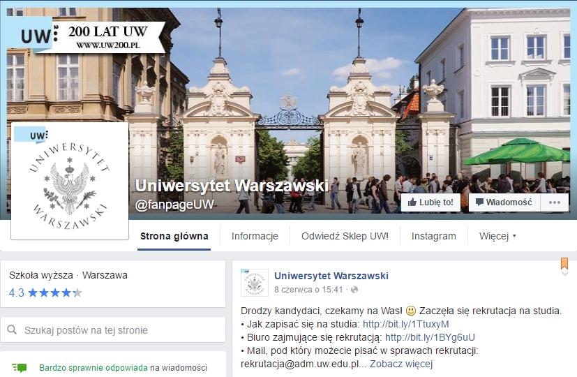 www.facebook.com/fanpageUW/