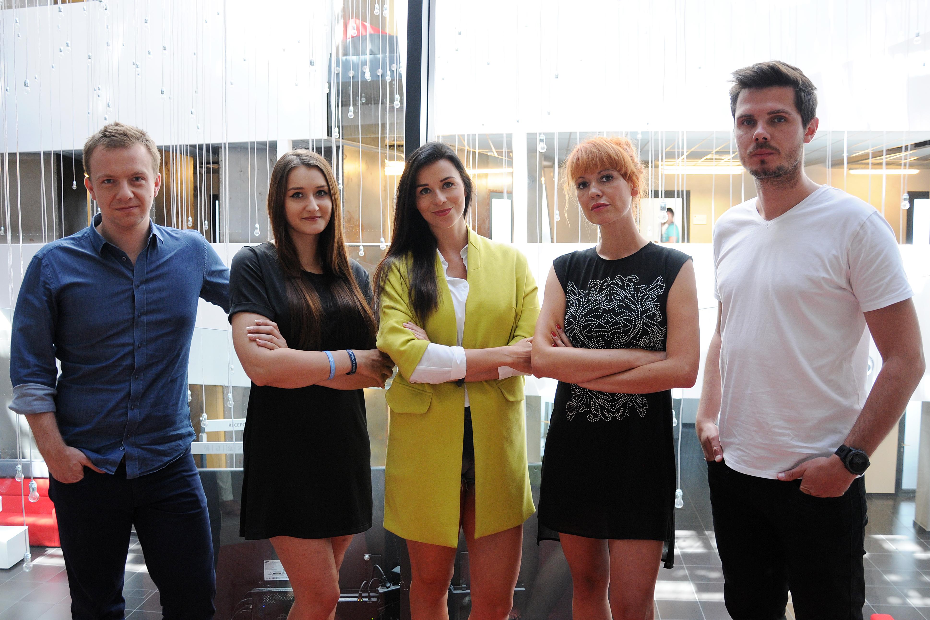 Na zdjęciu (od lewej): Grzegorz Miłkowski, Paulina Ksel, Aneta Wątor, Katarzyna Bienussa, Michał Grzebyk
