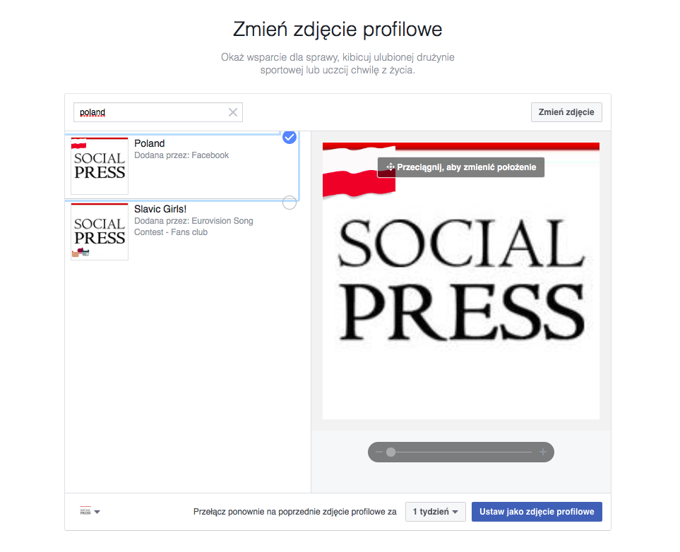 Social Press Facebook profile zdjęcie