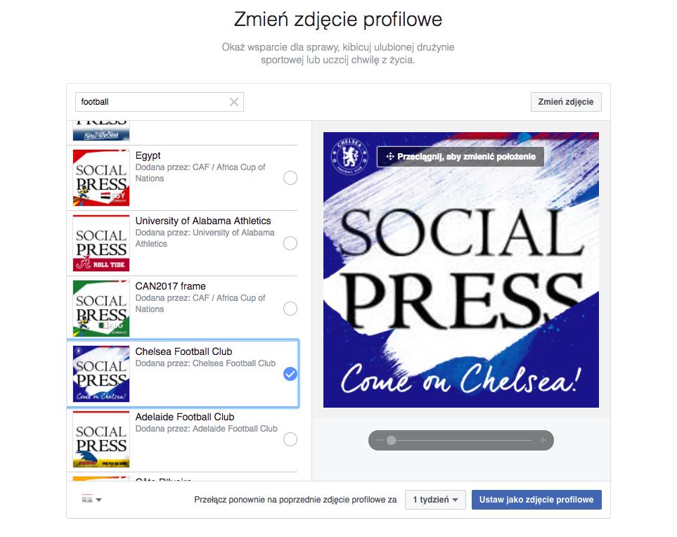 Social Press Facebook profile zdjęcie