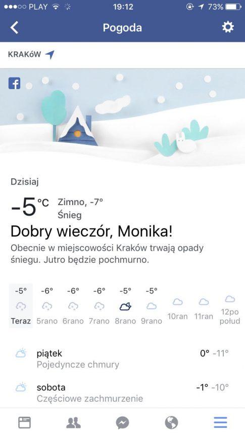 Facebook Pogoda