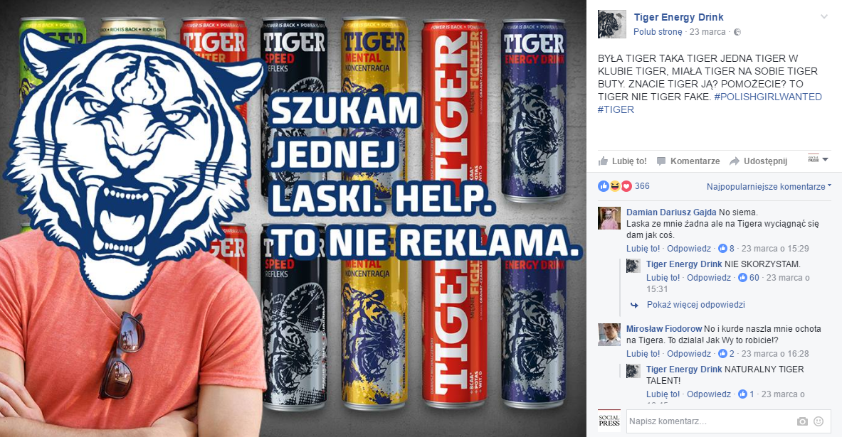fot. facebook.com/TigerEnergyDrink