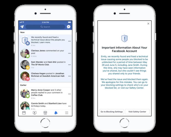 facebook blokada