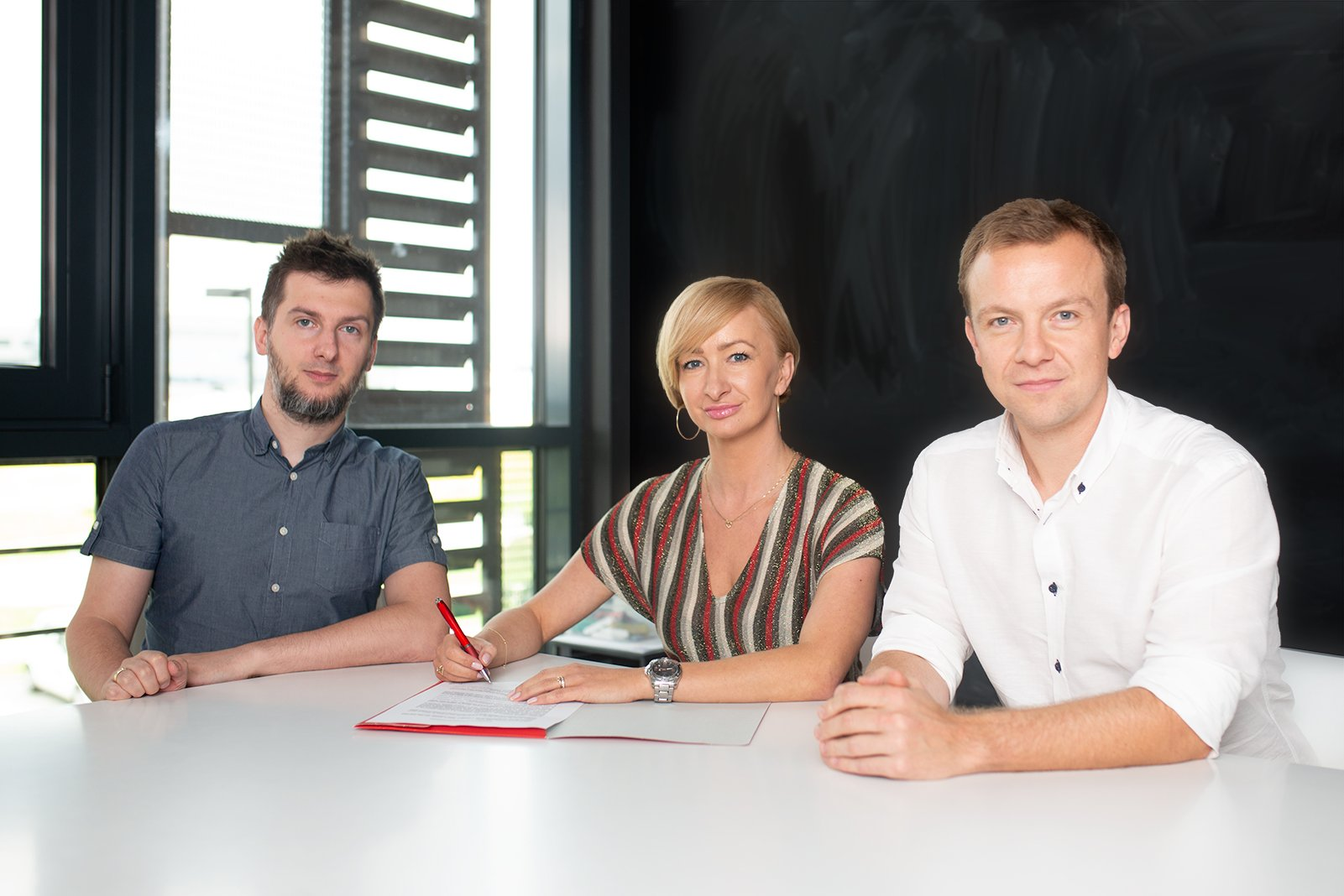 Od lewej: Krzysztof Marzec, Patrycja Sass-Staniszewska, Grzegorz Miłkowski