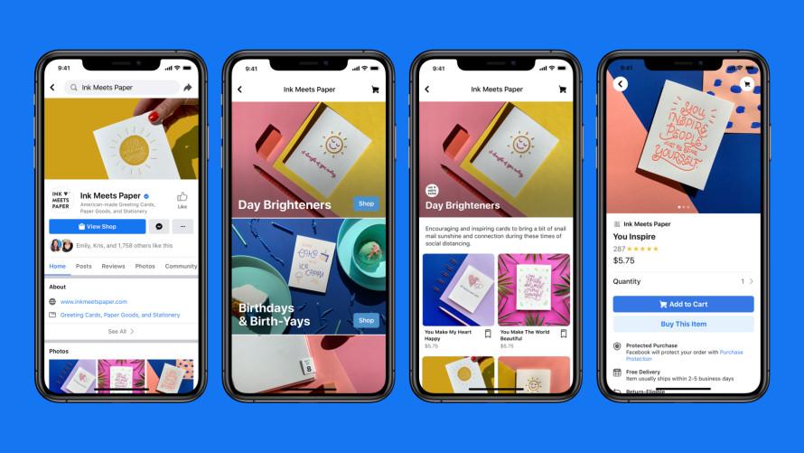 Facebook ułatwi sprzedaż on-line dzięki funkcji Shops, Komerso.pl