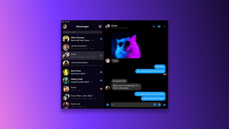messenger,desktop
