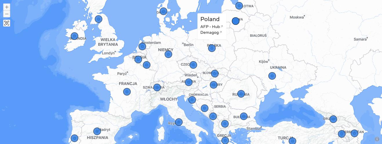 organizacje fact-checkingowe mapa
