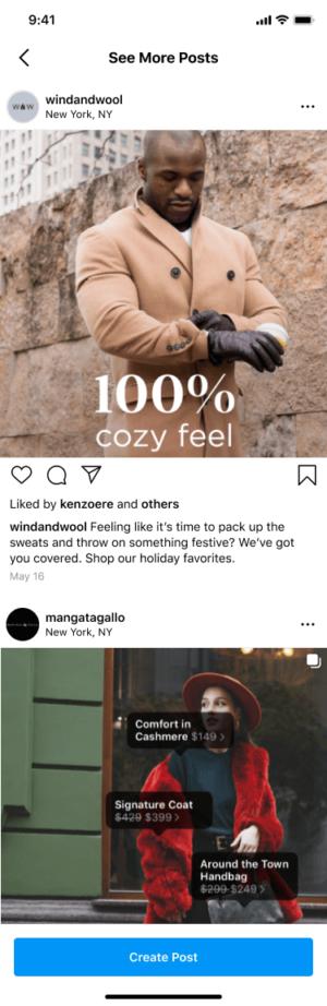 Instagram centrum inspiracji feed