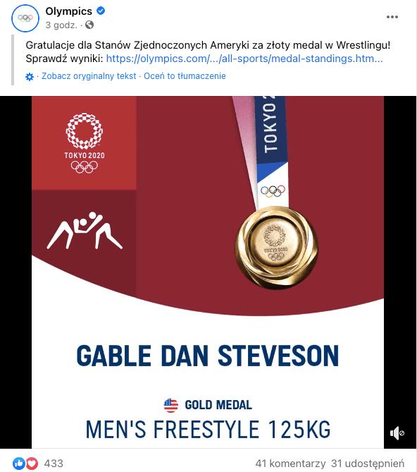 profil Olympics Facebook