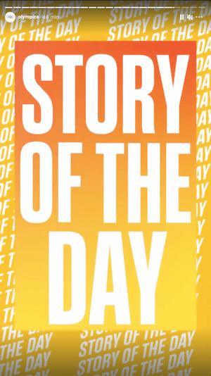 Stories Olympics na Instagramie