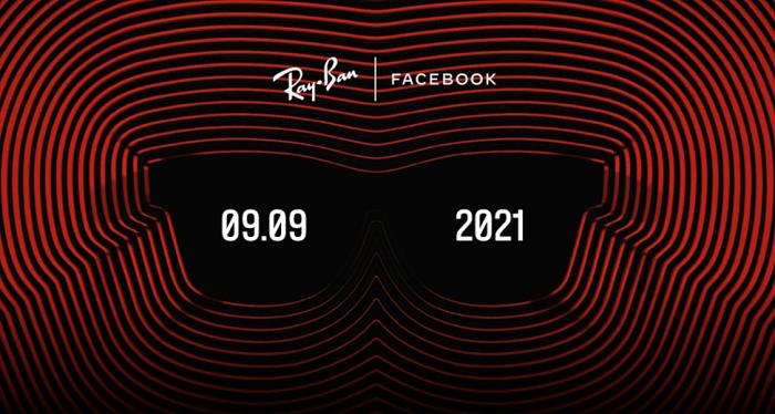 Baner ze strony Ray Bana. Czarne okulary, na lewym szkle data 09.09, na prawym 2021.